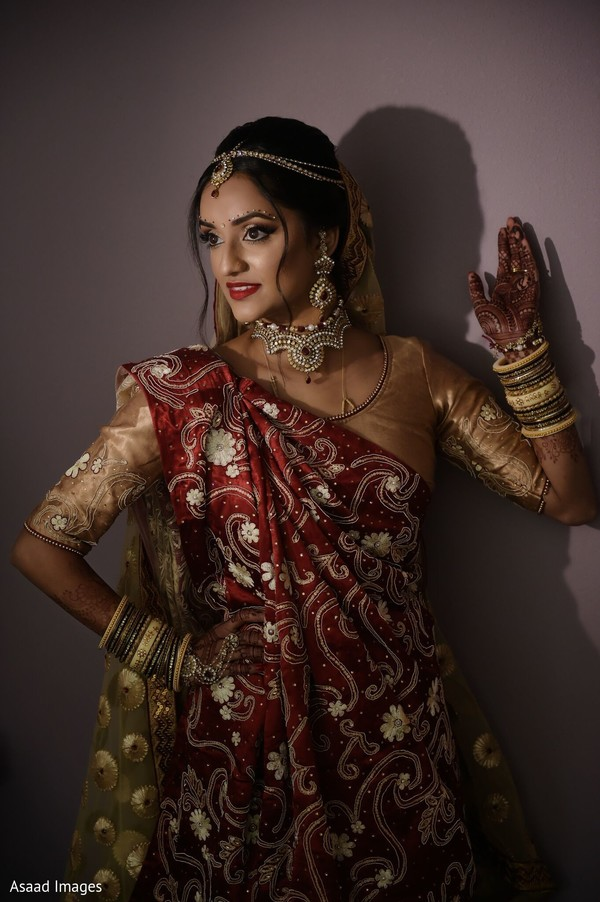 See this incredible Indian bridal ceremony look.