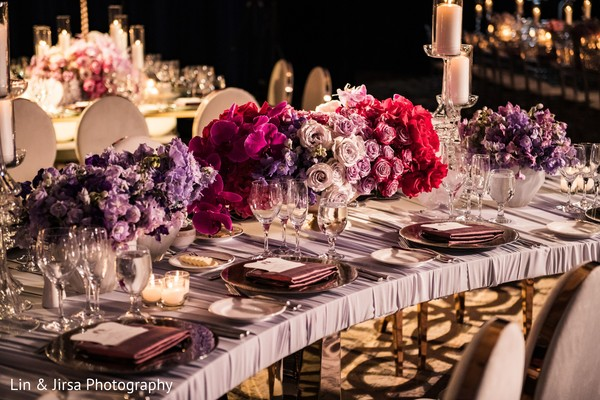 Perfect Indian wedding table flowers decorations.