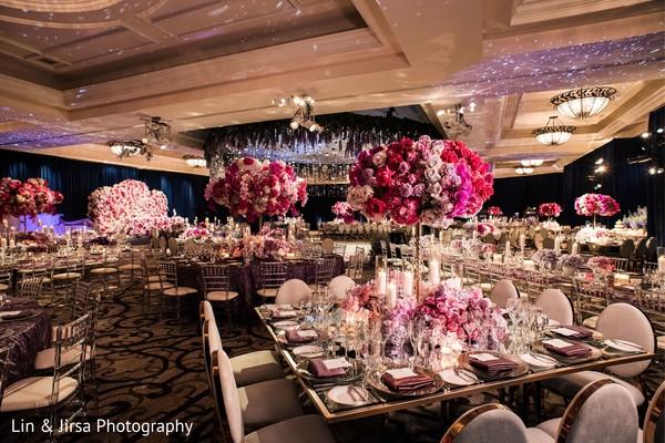 Incredible Indian wedding reception decoration.