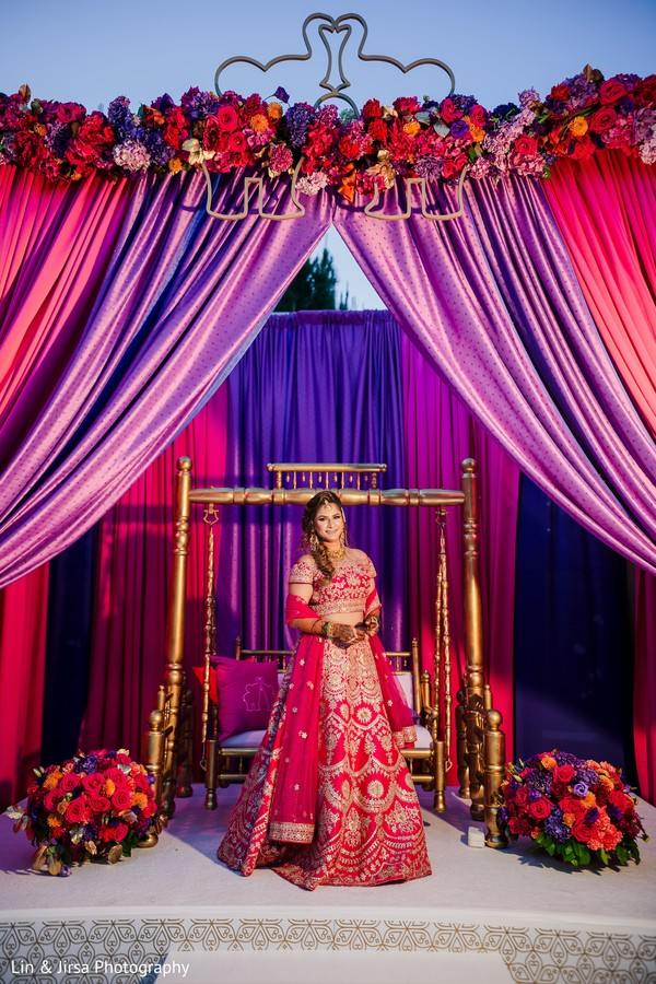 Lovely Indian bride on her Sangeet stage.