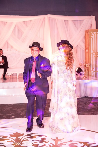 Father and daughter dance performance
