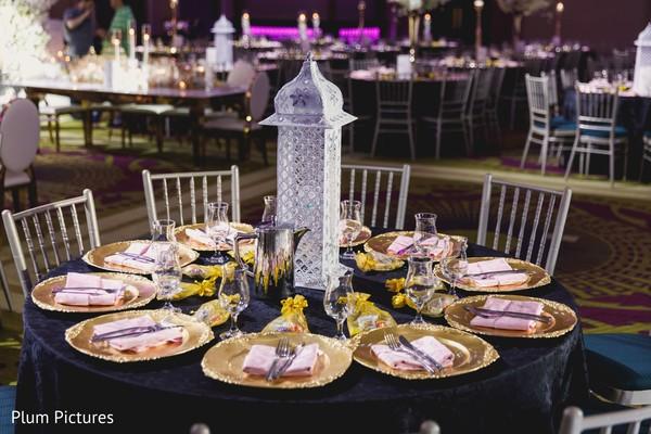 Elegant indian wedding table design.