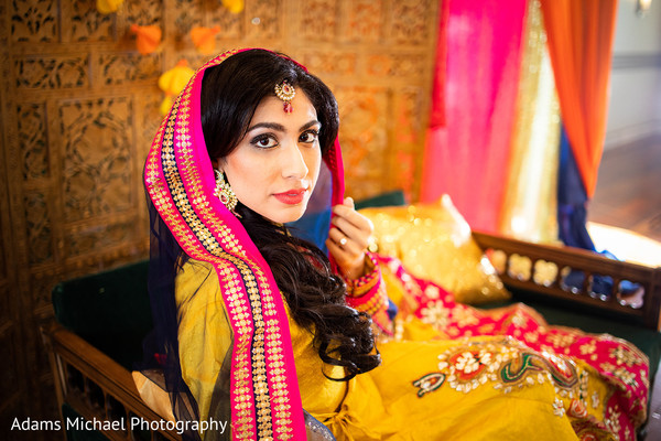 Lovely Indian bride in a lovely picture.
