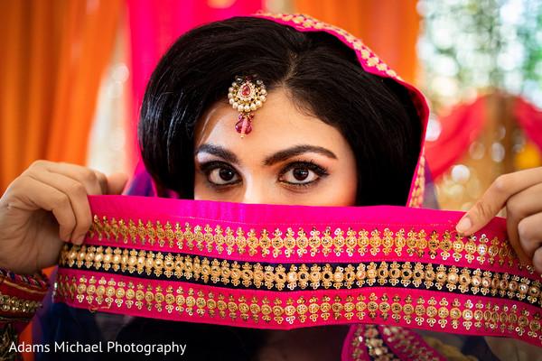 Enchanting indian bride.