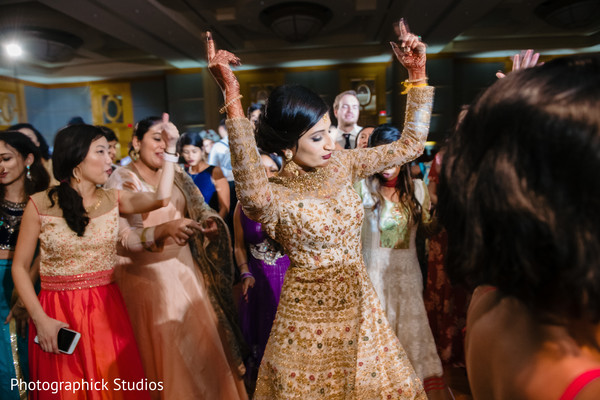 Indian bride having the time of her life
