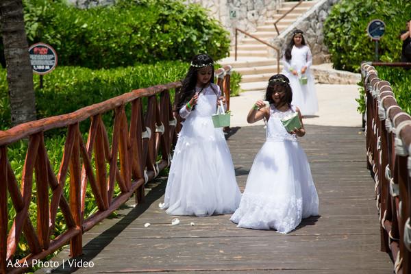 Like cute fairies announcing the bride.