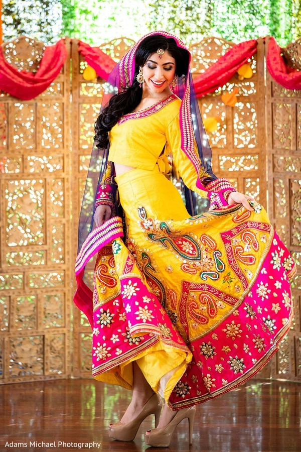 Colorful Indian bride.