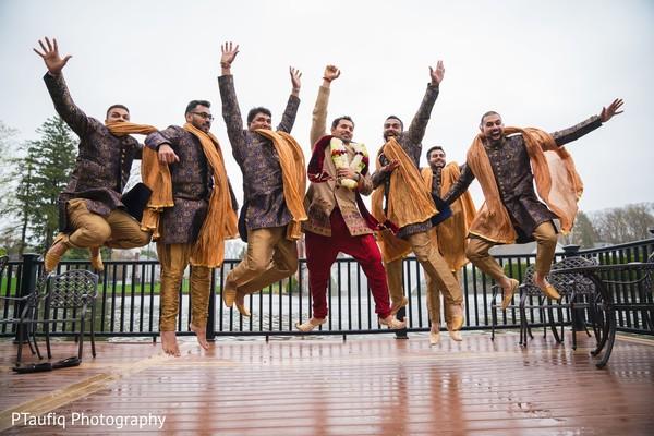 Phenomenal indian groom with groomsmen photo shoot.