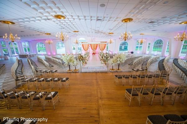 Stunning Indian wedding ceremony setup.