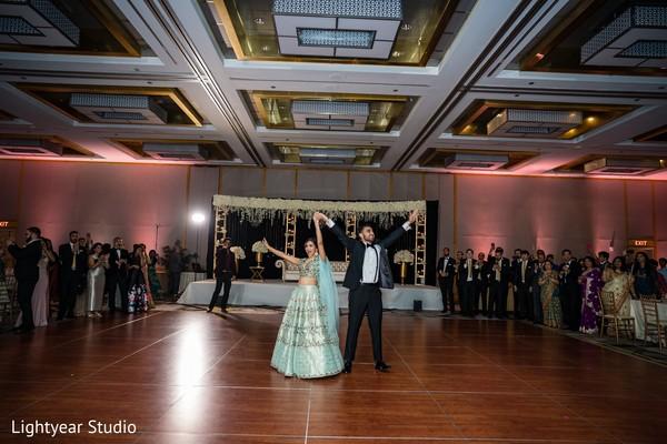 Amazing Indian couple reception entry.