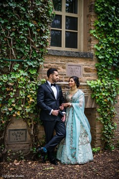 Elegant Indian couple outdoors capture.