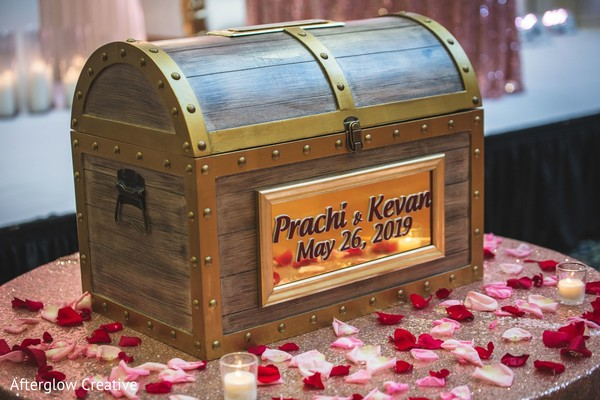 Incredible Indian wedding cards trunk.