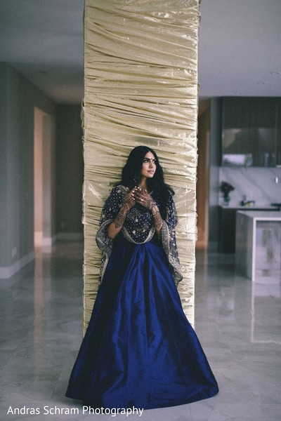 Gorgeous Indian bride posing for lengha