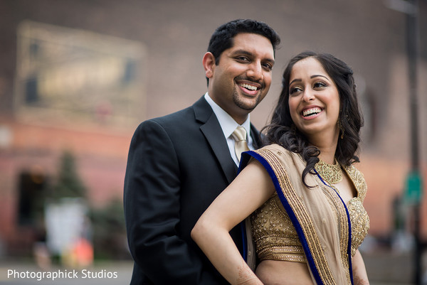 Adorable Indian bride and groom photography