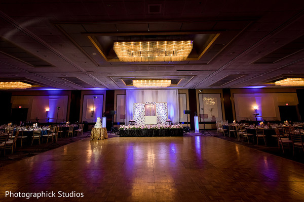 Majestic indian wedding venue decor