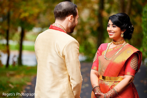 Magical moment between our Indian bride and Indian groom.