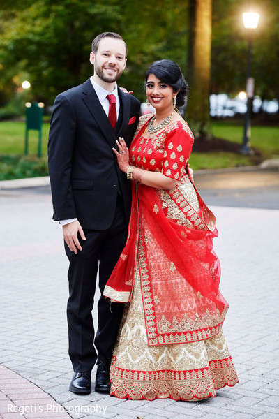 Radiant elegance displayed by our Indian couple.