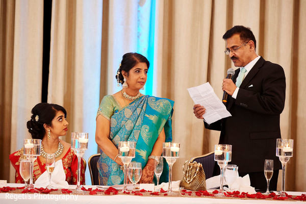Here is our Indian bride listening to her lovely father words.