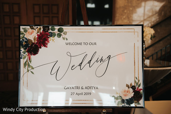 Welcome message from newlyweds