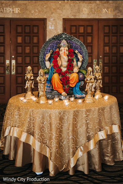 Statue of Ganesha at the reception
