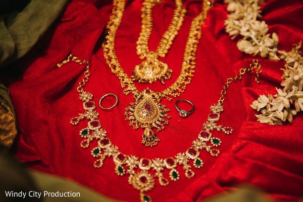 Indian wedding jewelry details.