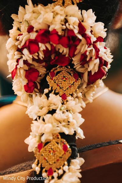 Indian wedding floral arrangements.