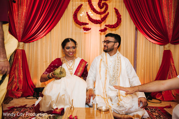 Maharani and Raja during the ceremony.