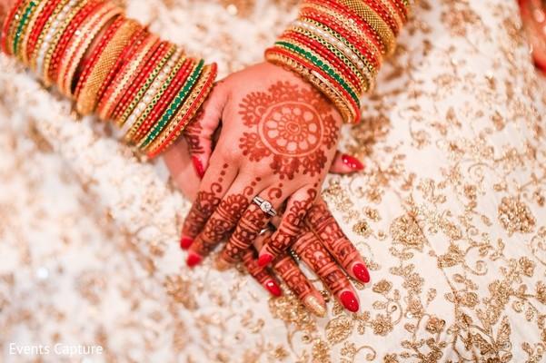 Closeup capture of India birdla ceremony fashion.