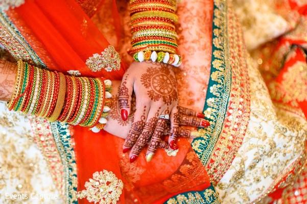 Incredible India bridal ceremony bangles and mehndi art.