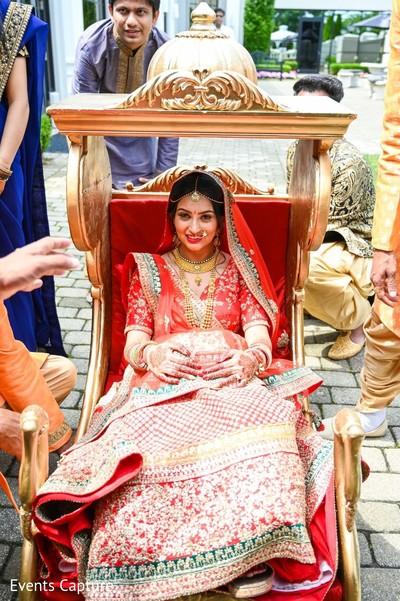 Indian bride on her Doli entrance.