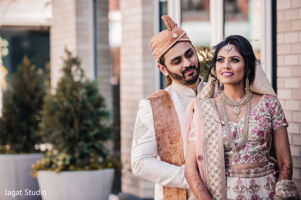 Dazzling maharani and her Indian groom.