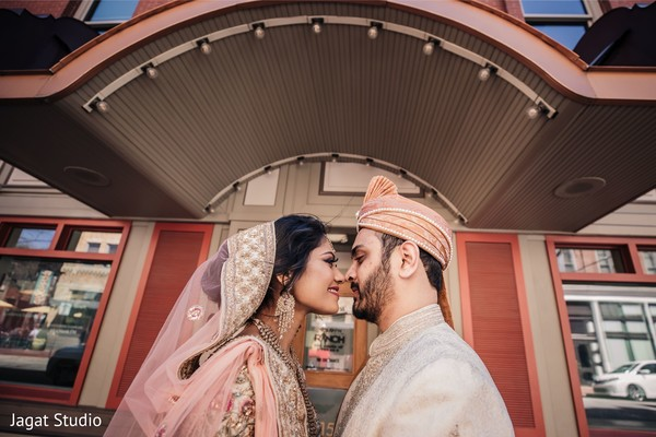 Cute Indian bride and Indian groom.