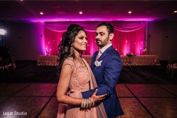 Radiating elegance from our Indian couple.