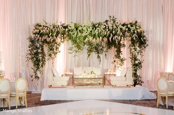 Majestic Indian wedding reception stage.