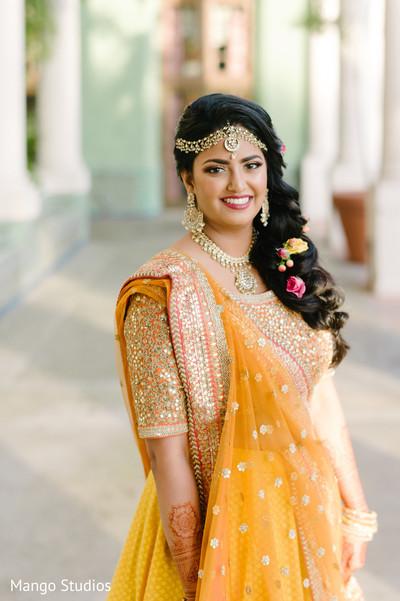 Sweet Indian bride portrait.