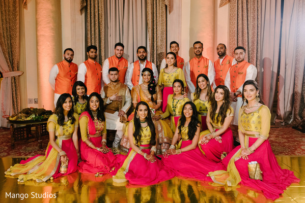 Large Indian wedding party.