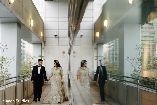 Lovely Indian wedding couple.
