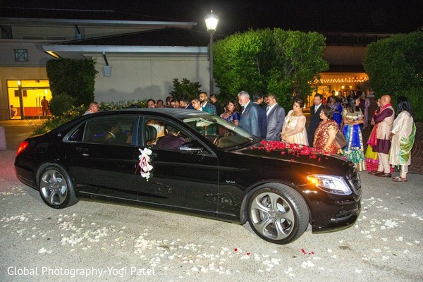 """Take a look at the """"carriage"""" of the Indian wedding."""