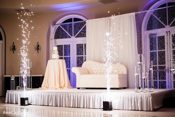 Impressive Indian wedding reception stage.