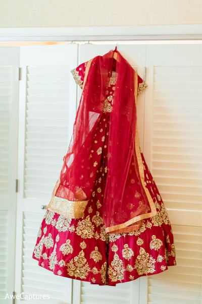 Magnificent Indian bridal ceremony lehenga.