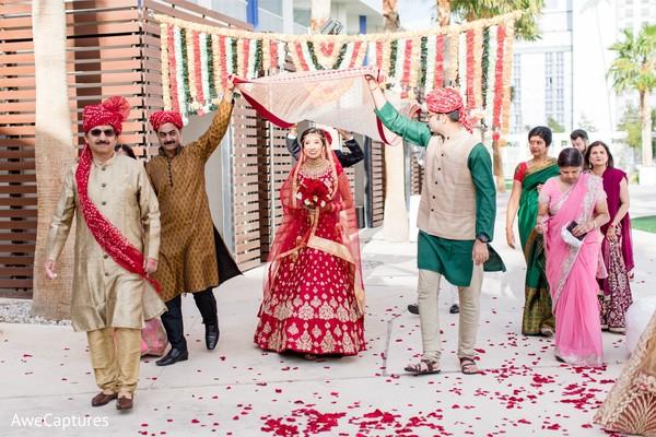 Fabulous maharani's entrance to wedding ceremony.