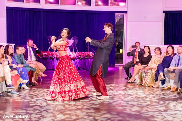 Sweet Indian bride and groomsmen dance choreography.
