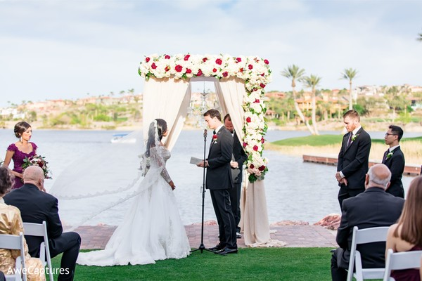 Indian groom saying his vows photo.