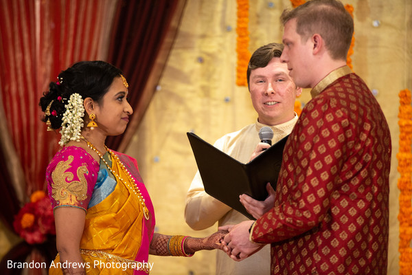 Indian couple during their wedding ceremony.