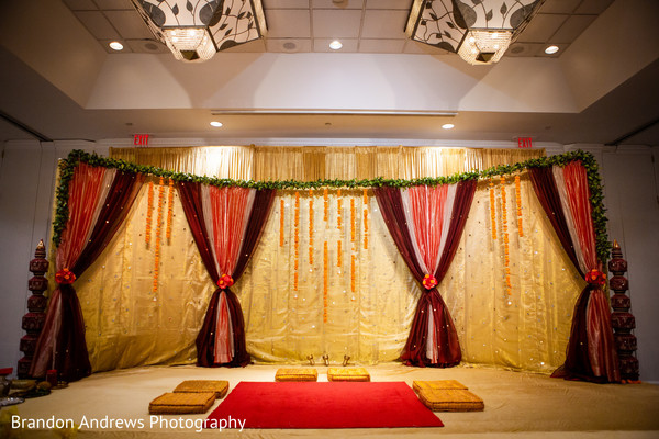 Indian wedding ceremony mandap.