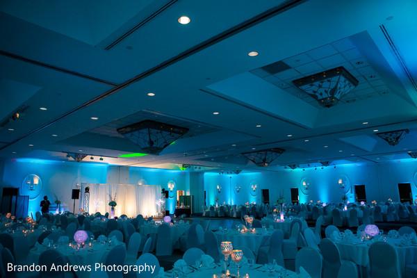 Marvelous Indian wedding reception venue decoration.