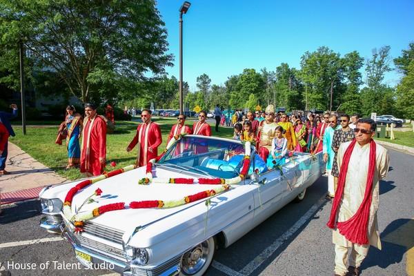 Indian groom's baraat procession transportation.