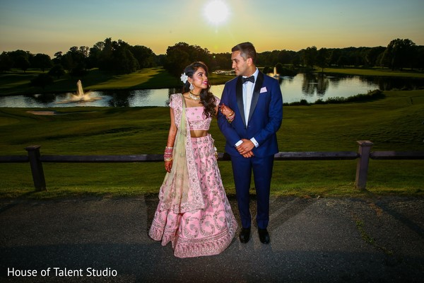 Marvelous outdoor indian wedding portrait