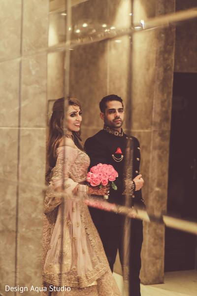 This couple radiates elegance.