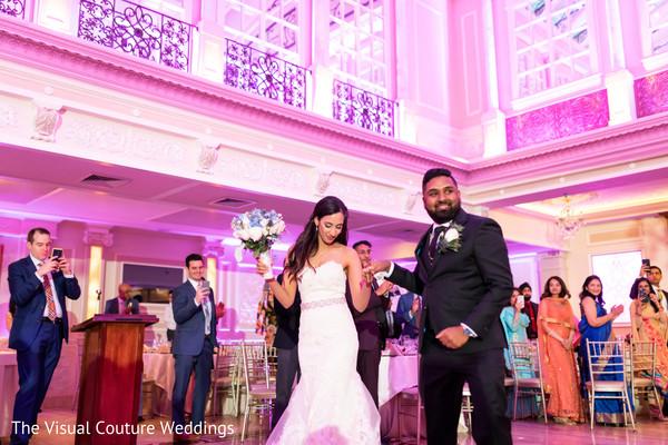 Indian bride and Raja looking dazzling.